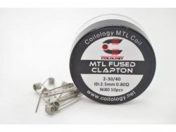 Coilology MTL FUSED CLAPTON spirálky Ni80 2-30/40 0,8Ω - 10ks
