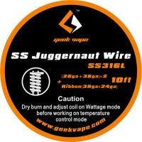 Geekvape JUGGERNAUT SS3316 drát (28GA+38GA)x2+Ribbon(38GAx24GA), 3m