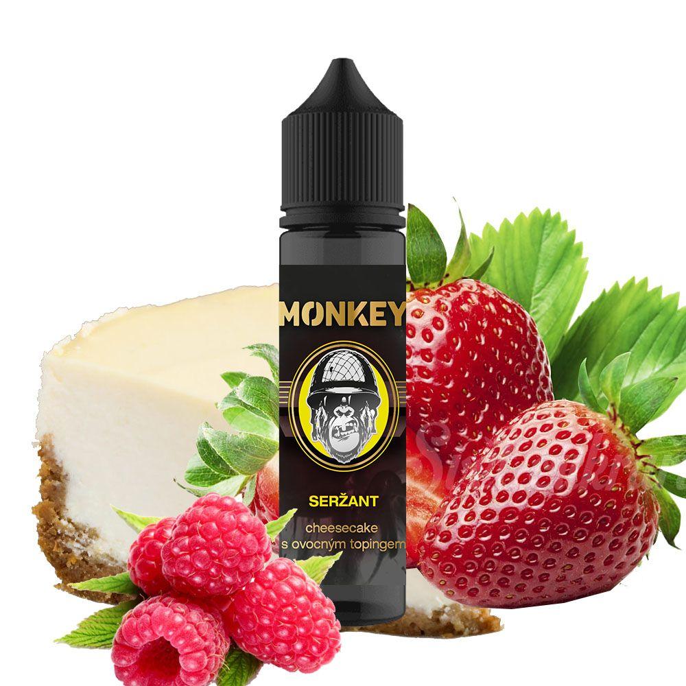 SERŽANT - chesecake s jahodovo-malinovým topingem - Monkey shake&vape 12ml Monkey liquid