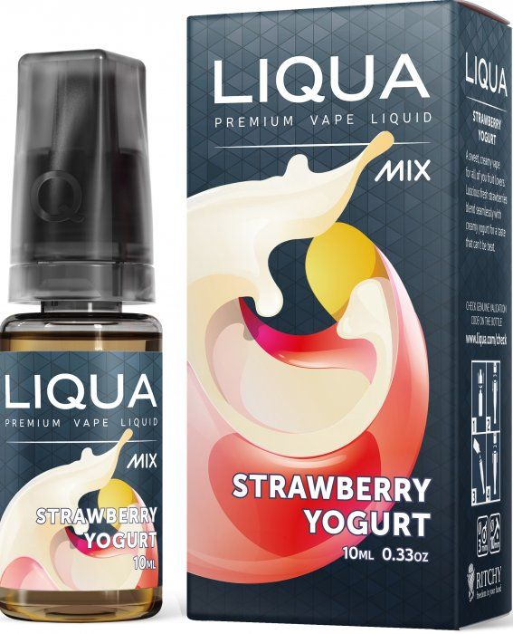 JAHODOVÝ JOGURT / Strawberry Yogurt - LIQUA Mix 10 ml