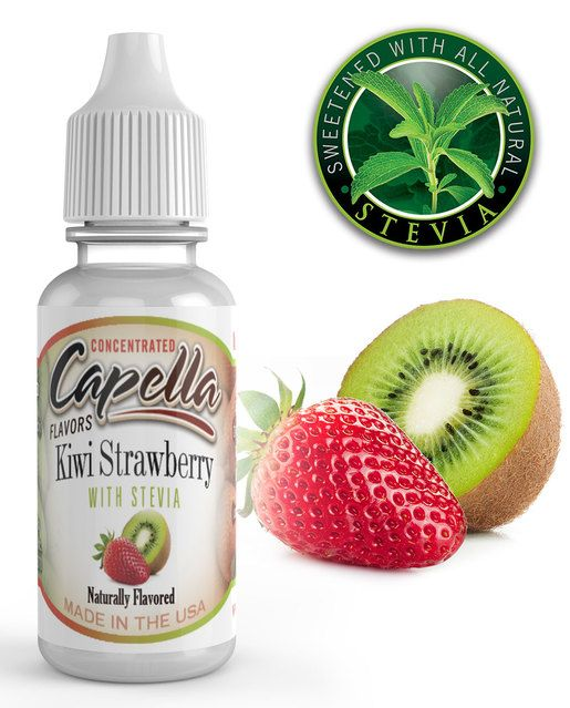KIWI A JAHODA SE STÉVIÍ / Kiwi Strawberry with Stevia - Aroma Capella